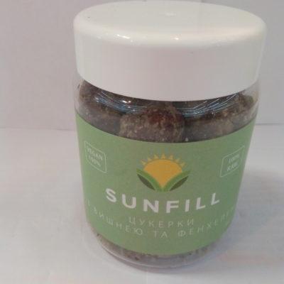 SunFill цукерки з вишнею та фенхелем 180г